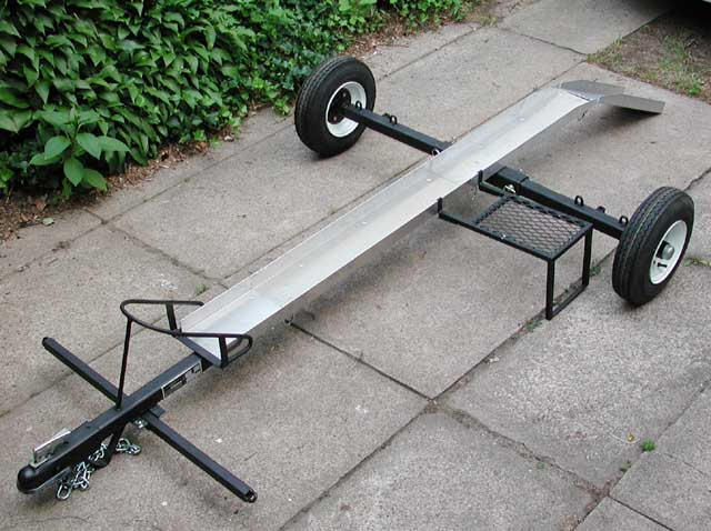 how to build motorcycle wheel holder for trailer